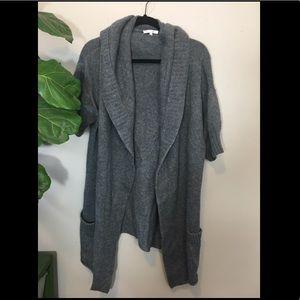 Vince Wool Long Grey Sweater